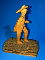Vtg Hand Carved Wood Figurine of Samuel De Champlain by Vermont Artist R. Thayer