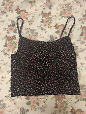 Primark Ditsy Floral Bustier Crop Cami Vest Top Size S 10/12
