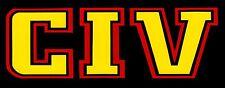 23014 CIV Black Yellow Logo Punk Rock Music Band Rectangle Sticker / Decal 90s