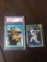 1987 Fleer Update Mark McGwire #U-76 PSA 9 Mint + 90 Topps Sosa Rc