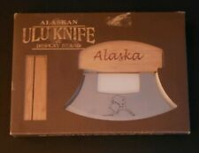 Alaskan Ulu Knife Stainless Steel State Of Alaska Etched On Blade Wood Handle