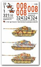 Peddinghaus 1/35 Tiger II (King Tiger) Tank Markings WWII No.2 (3 tanks) 982