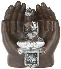 Thai Buddha in Händen Deko Figur Feng Shui Skulptur Budda Statue Buddhismus 164