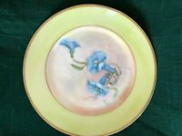 Vintage Decorated Porcelain Plate (hand decorated) 1950s