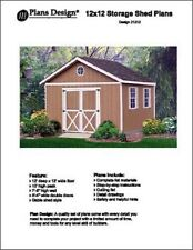 12' x 12' Classic Garden Gable Storage Shed Project Plans - Design #21212