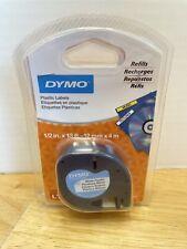 Genuine Dymo Lt Letratag 91331 Plastic Labels Refill Tape 12 W X 13 L 2 Pack