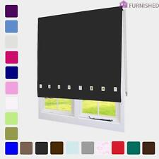Quality Roller Blinds Chrome Square Eyelets Window Blind Up To 2.4M + Cut to Fit
