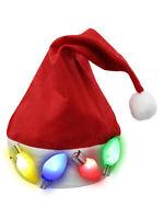Light Up Santa Hat Jumbo Giant Christmas Bulb Lights Costume Accessory