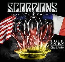 SCORPIONS - RETURN TO FOREVER (TOUR EDITION inkl. 7 Bonus Tracks) CD +2 DVD NEUF