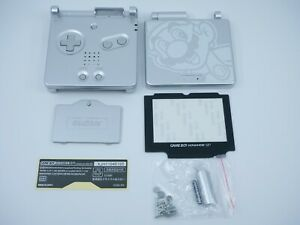 Kit coque + écran Nintendo Game Boy Advance SP GBA Shell Case Silver - Mario