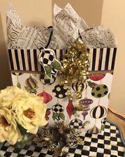 Mackenzie Childs   Jumbo  Capiz Drop ORNAMENT - NEW Gr8  FREE Gift BAG