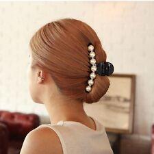 New Fashion Women Pearl Rhinestone Headdress Hairpin Hair Clips Claw Accessories