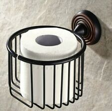 Oil Rubbed Bronze  Wall Mounted Toilet Paper Holder Tissue Roll Tissue Basket
