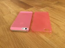 Apple iPhone 5 5S SE Ultra Slim matte Handyhülle 0,2mm Smartphone 1 Cover rosa