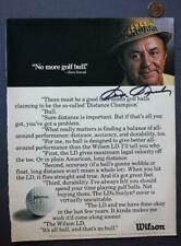 Golf Legend Sam Snead signed autographed Wilson Golf Balls Magazine ad photo!*