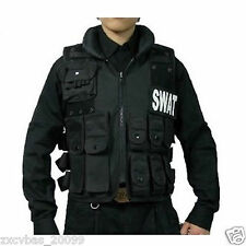 Black Outdoor SWAT AIRSOFT TACTICAL HUNTING COMBAT VEST m01