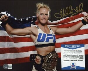 Holly Holm UFC Signed 8x10 Photo AUTO Autograph Beckett BAS COA