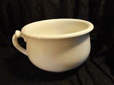 Edwin Knowles China Co. - Semi Vitreous White Chamber Pot - No Lid