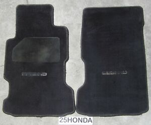 1991-1995 Acura Legend Factory Front OEM Floor Mats KA7 KA8 Rare Black