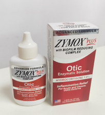 Zymox Plus Otic Advanced Formula Ear Infrections Pet Hydrocortisone 1.0% 1.25.oz