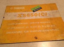 Yamaha XS650 C XS 650 76 650XS supplement revue moto technique manuel atelier