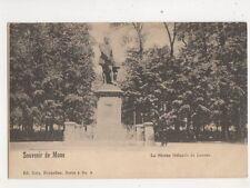 Souvenir De Mons Statue Orlande de Lassus Vintage U/B Postcard 505b