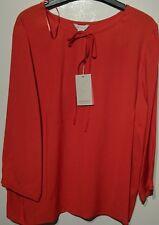 monsoon florence ladies orange top bnwt UK 18 long sleeved