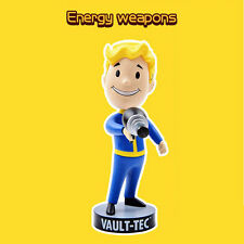 "5"" About Fallout 3 4 Vault Boy Nodding Bobblehead Head Doll Energy Weapons"