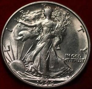 Uncirculated 1944-S San Francisco Mint Silver Walking Liberty Half
