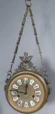 19thC Antique Victorian Figural Brass Dragon Griffin Bird Statue Old Wall Clock