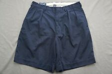 Ralph Lauren Polo Golf Pleated Pique Casual Shorts. Navy Blue, Men's 34. GUC!!