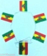 Marijuana Rastafarian Polyester Flag Bunting - 6m long with 20 Flags