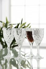 Galway Crystal Renmore Pattern Set of 4 Goblets 35000/4