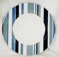 Pier 1 Marea Dinner Plate Blue & White Stripes Earthenware Made in Italy