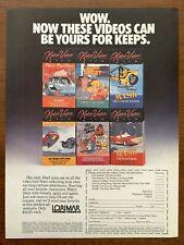 1987 Lorimar Kideo Video Vintage Vhs Print Ad/Poster 80s Mask Inspector Gadget