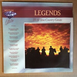 """LEGENDS 28 ALL TIME COUNTRY GREATS DOUBLE VINYL 12"""" LP ALBUM RECORD 1983"""