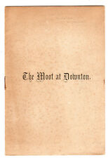 The Moot of Downton - Booklet c1905 / Salisbury