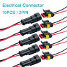 10X 2Pin Way Car Auto Electrical Wire Cable Automotive Connector Plug Waterproof