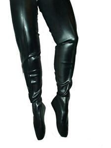 Ballet  Crotch gummi latex Schwarz , Gr. 40 - 47  RV, neu,  Länge 80 cm PL