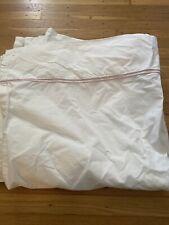 restoration hardware twin Italian cotton white flat sheet