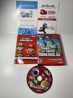 New Super Mario Bros. Wii Nintendo Wii Game & Manual