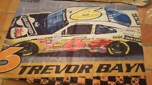 Nascar Trevor Bayne # 6 Wincraft Premium Advocare Flag Autographed