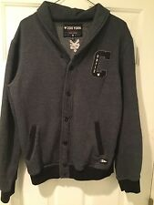 """"""" ZOO YORK"""" BUTTON UP MENS SWEATSHIRT BY """"CHAZ ORTIZ"""" SIZE M NEW YORK VN COND."""
