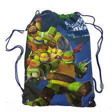 TORTUE NINJA sac sac à dos cordon de serrage tissu bleu imprimé 30x40 cm