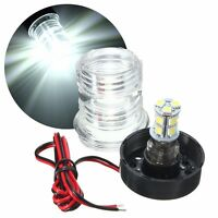 Marine Boat Yacht Stern Anchor White LED Navigation Light All Round 360° DC 12V