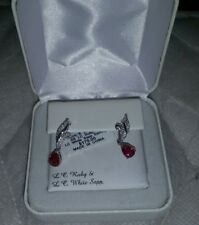 Ruby and white sapphire earrings msrp$175