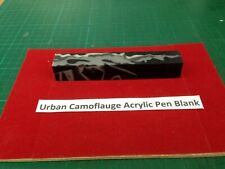 One Urban Camouflage Acrylic Pen Blanks 130mm x 20mm