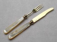 *RAR* Wunderschönes Obstpaar Perlmutt und 800er Silber um 1880