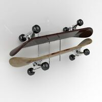 Clear Double Skateboard Mounts Deck / Wall Hanging Brackets / Mounts Deck