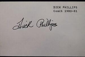 Dick Phillips Padres Coach 1980-81 (d.98) Autographed 3x5 Index Card JSA 17D